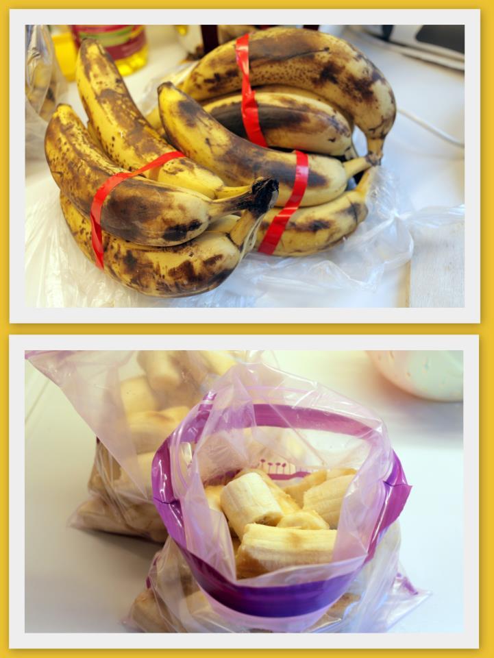 Frosnir bananar og uppskriftir